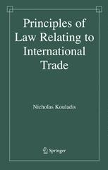 Principles of Law Relating to International Trade