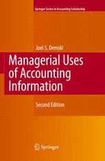 Managerial Uses of Accounting Information
