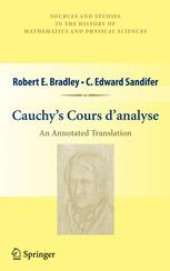 Cauchy's Cours d'analyse