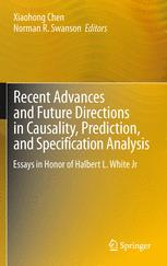 Recent Advances and Future Directions in Causality, Prediction, and Specification Analysis