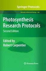 Photosynthesis Research Protocols