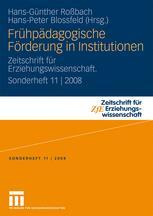 Frühpädagogische Förderung in Institutionen