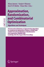 Approximation, Randomization, and Combinatorial Optimization. Algorithms and Techniques