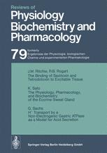 Reviews of Physiology, Biochemistry and Pharmacology, Volume 79