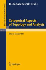 Categorical Aspects of Topology and Analysis