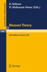 Measure Theory Oberwolfach 1981