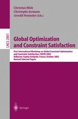 Global Optimization and Constraint Satisfaction