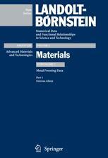 Metal Forming Data of Ferrous Alloys - deformation behaviour