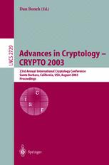 Advances in Cryptology - CRYPTO 2003