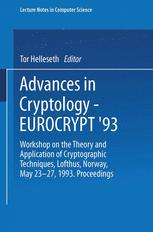 Advances in Cryptology — EUROCRYPT '93