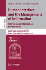 Human Interface and the Management of Information. Interacting in Information Environments
