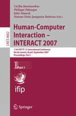 Human-Computer Interaction – INTERACT 2007
