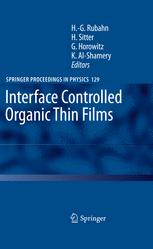 Interface Controlled Organic Thin Films