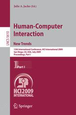 Human-Computer Interaction. New Trends