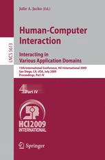 Human-Computer Interaction. Interacting in Various Application Domains