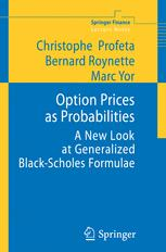 Option Prices as Probabilities
