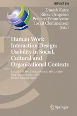Human Work Interaction Design: Usability in Social, Cultural and Organizational Contexts