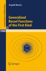 Generalized Bessel Functions of the First Kind