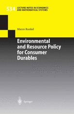 Environmental and Resource Policy for Consumer Durables