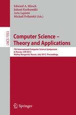 Computer Science – Theory and Applications
