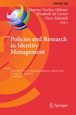 Policies and Research in Identity Management