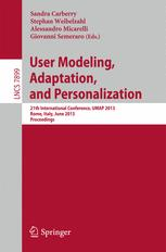 User Modeling, Adaptation, and Personalization