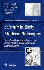 Scientia in Early Modern Philosophy