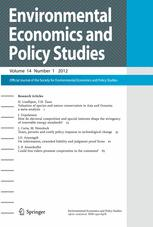 Environmental Economics and Policy Studies