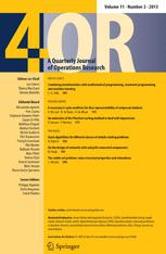 Quarterly Journal of the Belgian, French and Italian Operations Research Societies