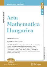 Acta Mathematica Hungarica