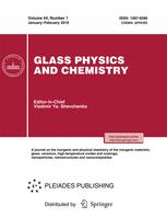 Glass Physics and Chemistry  P2o5 Mechanism