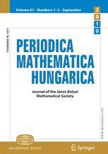 Periodica Mathematica Hungarica