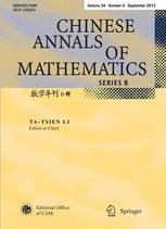 Chinese Annals of Mathematics, Series B