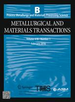 Metallurgical and Materials Transactions B