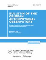 Bulletin of the Crimean Astrophysical Observatory