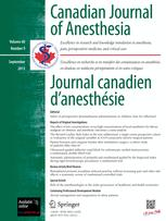 Canadian Anaesthetists' Society Journal