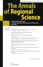 The Annals of Regional Science cover image