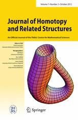 Journal of Homotopy and Related Structures