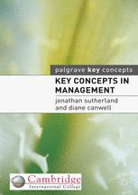Key Concepts in Management :