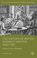 The History of British Women's Writing, 1690–1750
