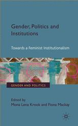 Gender, Politics and Institutions