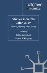 Studies in Settler Colonialism