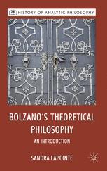 Bolzano's Theoretical Philosophy