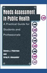 Needs Assessment in Public Health