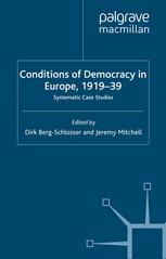 Conditions of Democracy in Europe, 1919–39
