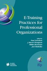 E-Training Practices for Professional Organizations