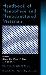 Handbook of Nanophase and Nanostructured Materials