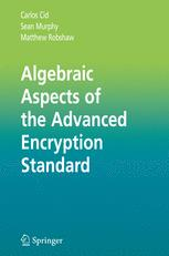 Algebraic Aspects of the Advanced Encryption Standard