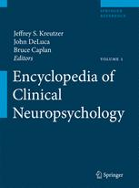 Encyclopedia of Clinical Neuropsychology
