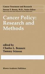 Cancer Policy: Research and Methods